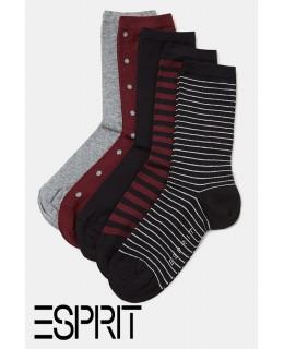 Lot de 5 paires de chaussettes fantaisie ESPRIT