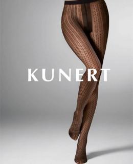 Collant fantaisie noir Fine Triangles de Kunert sur collant.fr