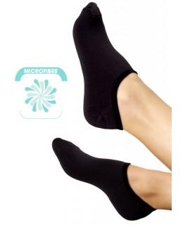 Socquettes microfibre noires