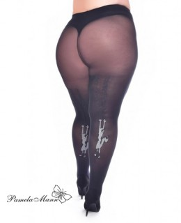 Collant grande taille chat griffe super stretch
