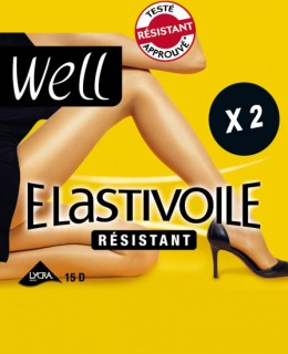 Lot 2 collants voile noirs  Elastivoile Resistant