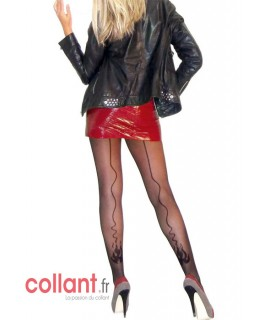 Collant fantaisie Flammes de collant.fr