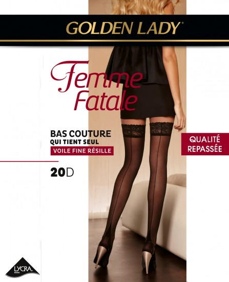 79b796b8b9 Bas Couture Femme Fatale Golden Lady sur collant.fr