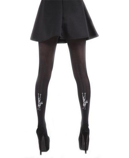 Noir collants chatte