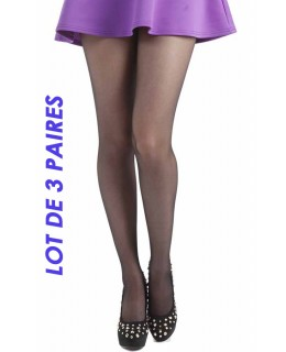 Lot collants grande taille Basic 15 Black