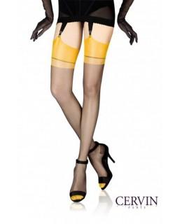 Bas classique nylon CAPRI 15 bicolore