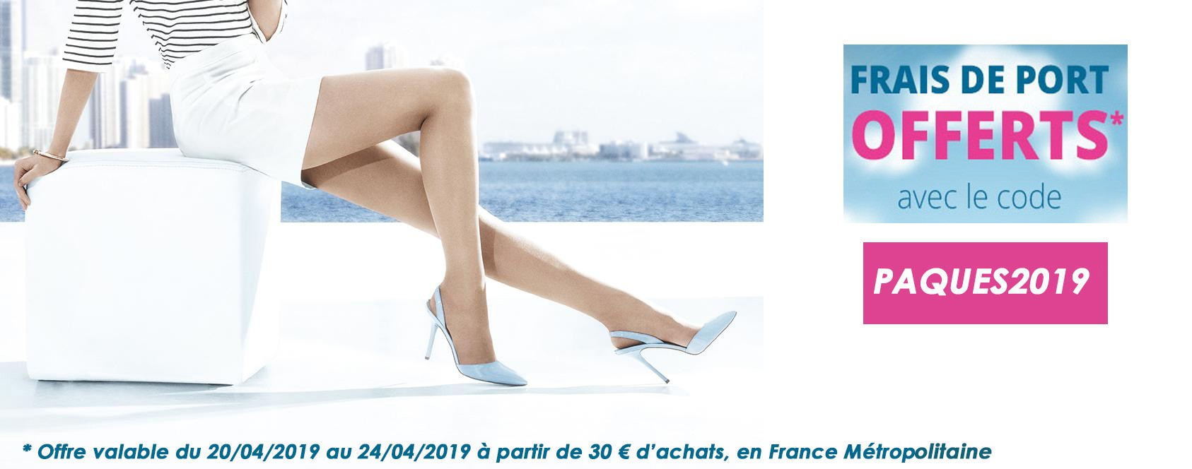Les frais de port sont offerts sur collant.fr jusqu'au 24 avril minuit